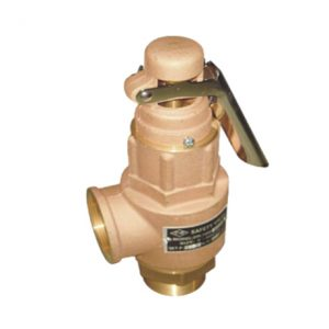 BRONZE SAFETY RELIEF VALVE WITH LEVER