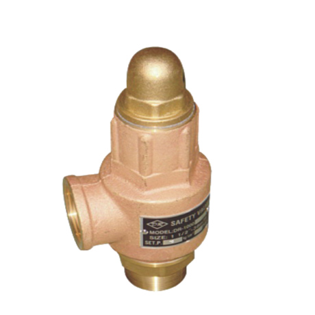 BRONZE SAFETY RELIEF VALVE WITHOUT LEVER